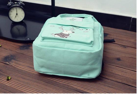 Стильная сумка рюкзак с оленем