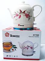 Чайник электрический  DOMOTEC DT-150, керамика, стильный дизайн