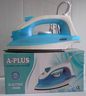 Утюг электрический А-Плюс EL-0075, техника для дома, утюги, паровые, электрические, отпариватели, пылесосы