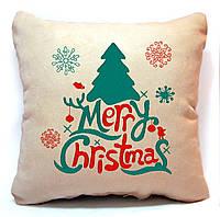 """Новогодняя подушка """"Merry Christmas!"""" 01"""