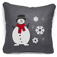 """Новогодняя подушка """"Снеговичок"""" 26"""
