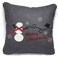 "Новогодняя подушка ""Merry Christmas/Снеговик"" 29"