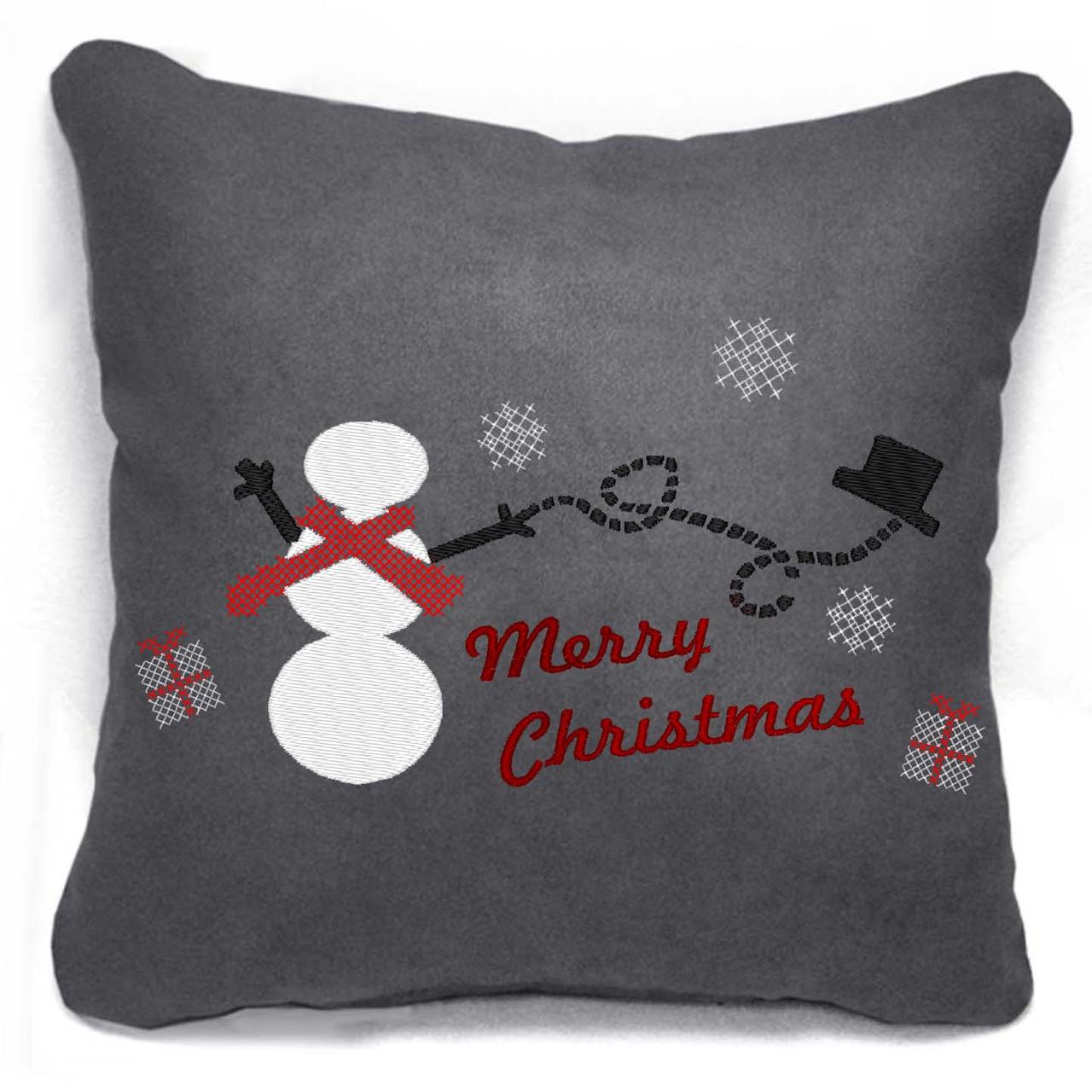 """Новогодняя подушка """"Merry Christmas/Снеговик"""" 29 - Оптовый интернет-магазин """"Slivki"""" в Днепре"""
