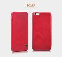 """Кожаный чехол-книжка Nillkin Qin для Apple iPhone 6/6s (4.7"""") (Красный)"""