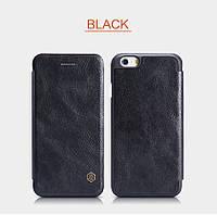 """Кожаный чехол-книжка Nillkin Qin для Apple iPhone 6/6s (4.7"""") (Черный)"""