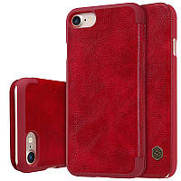 """Кожаный чехол-книжка Nillkin Qin для Apple iPhone 7 (4.7"""") (Красный)"""