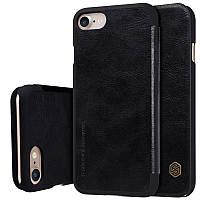 """Кожаный чехол-книжка Nillkin Qin для Apple iPhone 7 (4.7"""") (Черный)"""