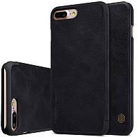 """Кожаный чехол-книжка Nillkin Qin для Apple iPhone 7 plus (5.5"""") (Черный)"""
