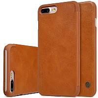 "Кожаный чехол-книжка Nillkin Qin для Apple iPhone 7 plus (5.5"") (Коричневый)"