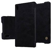 Кожаный чехол-книжка Nillkin Qin для Sony Xperia Z5 Premium (Черный)