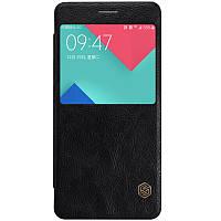 Кожаный чехол-книжка Nillkin Qin для Samsung A510F Galaxy A5 (2016) (Черный)