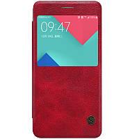 Кожаный чехол-книжка Nillkin Qin для Samsung A510F Galaxy A5 (2016) (Красный)