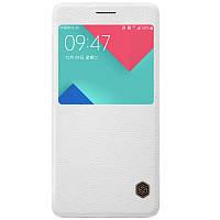 Кожаный чехол-книжка Nillkin Qin для Samsung A510F Galaxy A5 (2016) (Белый)