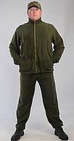 Костюм флисовый мужской темно-зеленый р. 60-62 рост 5-6