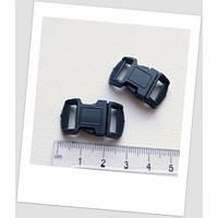 Фастекс для паракорд-браслета пластиковый, черный, 29x16 мм