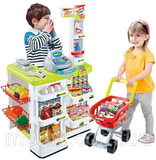34fe10d82 Детский игровой набор Супермаркет с тележкой 668-03 купить по ...