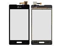 Тач панель для LG E460 Optimus L5 II чёрная оригинал (TW)