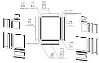 Профиля G-30 для подвижных створок на автоматические двери