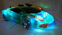 Портативная mp3 колонка машинка Lamborgini, супер зучание, подсветкой кузова, отличное качество
