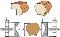 Фрезы для изготовления поручня и обработки контура подоконника D140-d32-40-B69-z3