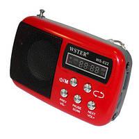 Радиоприемник WS-822, Mp3 плеер,  USB, AUX, microSD , аудиотехника, портативная акустика, радио, электроника