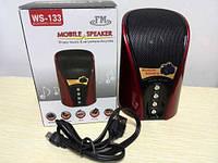 Bluetooth колонка WS-133, портативная, аудиотехника, mp3 колонки, портативная акустика