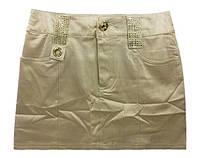 Детская юбка с золотистым отливом, р. 134-158