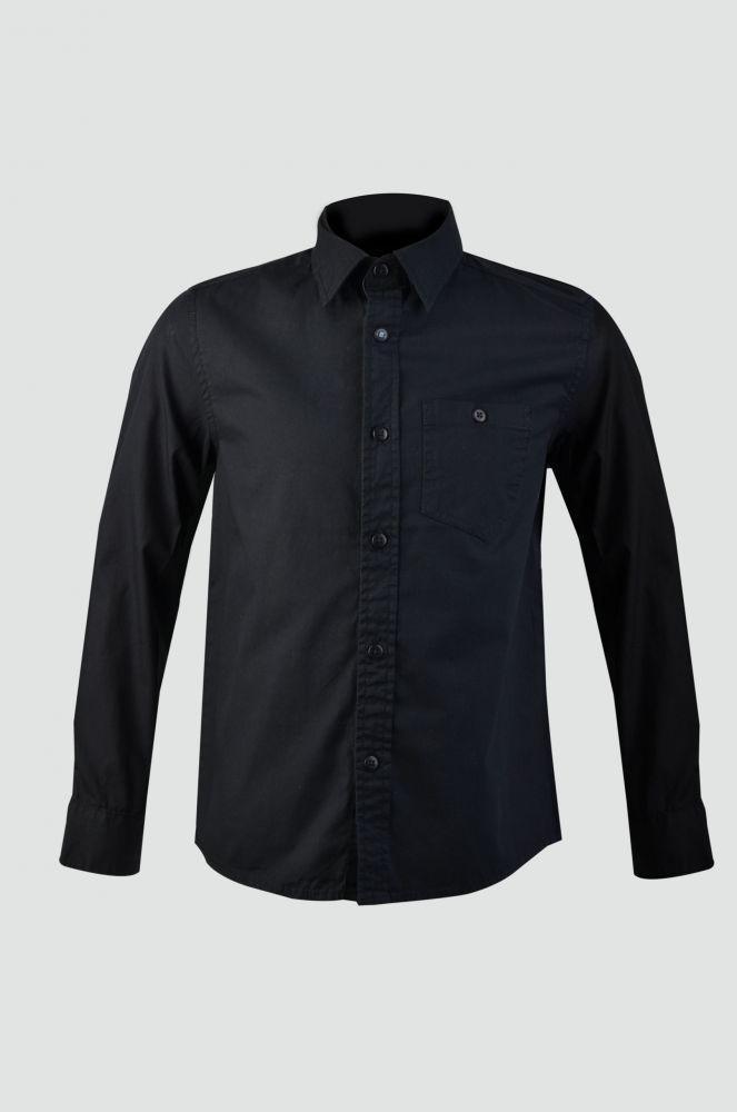 Рубашка с длинным рукавом черная для мальчика