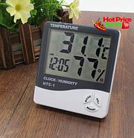 Часы Термометр Гигрометр HTC-1 3в1 , настольные часы, часы для дома, домашняя метеостанция