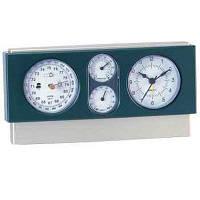 Метеостанция часы, домашний барометр, гигрометр, термометр, влагомер, часы, будильник(квадрат горизонтальный)