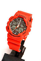 Наручные часы Casio G-shock GA-100 (красные), спортивные,мужские часы, электронные, made in Japan