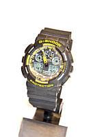 Наручные часы Casio G-Shock WR20M (черные с желтым), мужские, электронные, спортивные часы