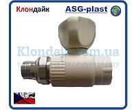 Кран радиаторный прямой 20х1/2 ASG-Plast (Чехия)