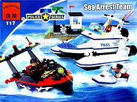 Конструктор BRICK Морская полиция 472дет. в коробке 38*7*28,5см  117