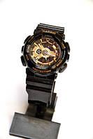 Женские наручные часы Casio G-Shock Baby-G (черные с золотым), кварцевые, женские, спортивные, наручные