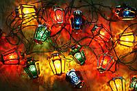 Гирлянда разноцветные фонарики