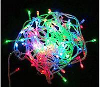 Гирлянда новогодняя(мульти цвет) светодиодная 100Led , светотехника, праздничное освещение