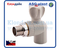 Кран радиаторный угловой 25х3/4 ASG-Plast (Чехия)