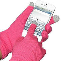 Перчатки для сенсорных телефонов Touch Gloves( розовые), аксессуары для телефонов