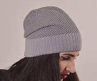 """Шапки. Женская шапка """"Джейн"""" серый."""