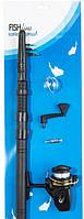 Спининг, Набор для рыбалки: Спиннинг 1,6м + Катушка +Леска + Крючки + Поплавок, товары для рыбалки
