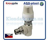 Кран радиаторный угловой термостатический 20х1/2 ASG-Plast (Чехия)