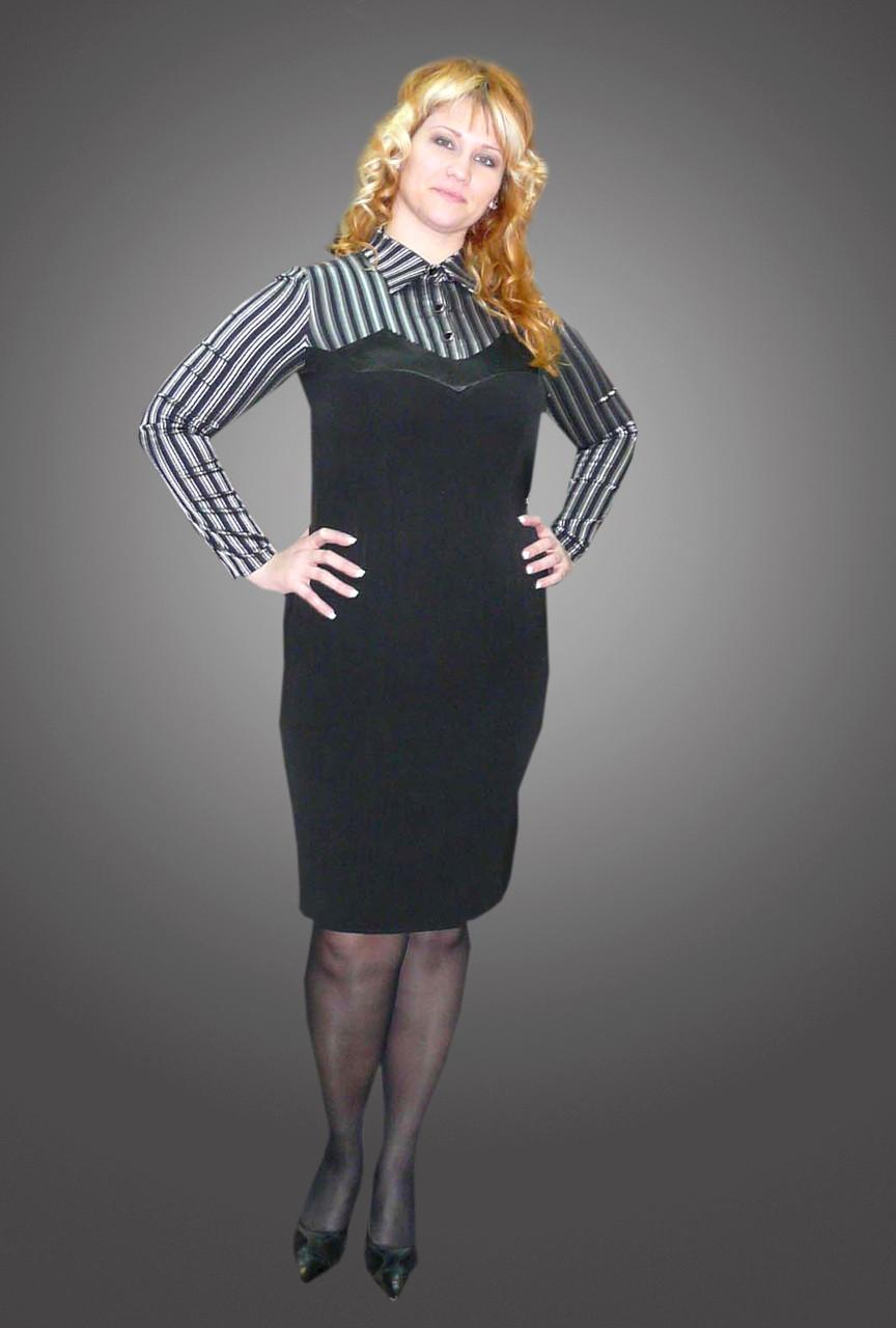 Платье женское офисное серое