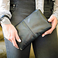 Кожаный кошелек клатч