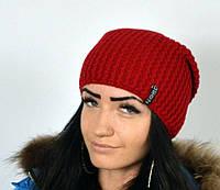 """Шапка """"Лилу"""" красный. Шапки для женщин. Удлиненные шапки."""