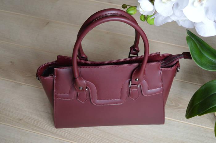 Бордовая кожаная сумка Virginia Conti