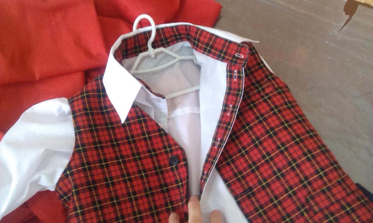 Школьный костюм для мальчика  (тройка) 5-15 лет