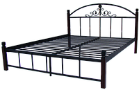 """Металлическая кровать """"Кассандра"""" на деревянных ножках"""