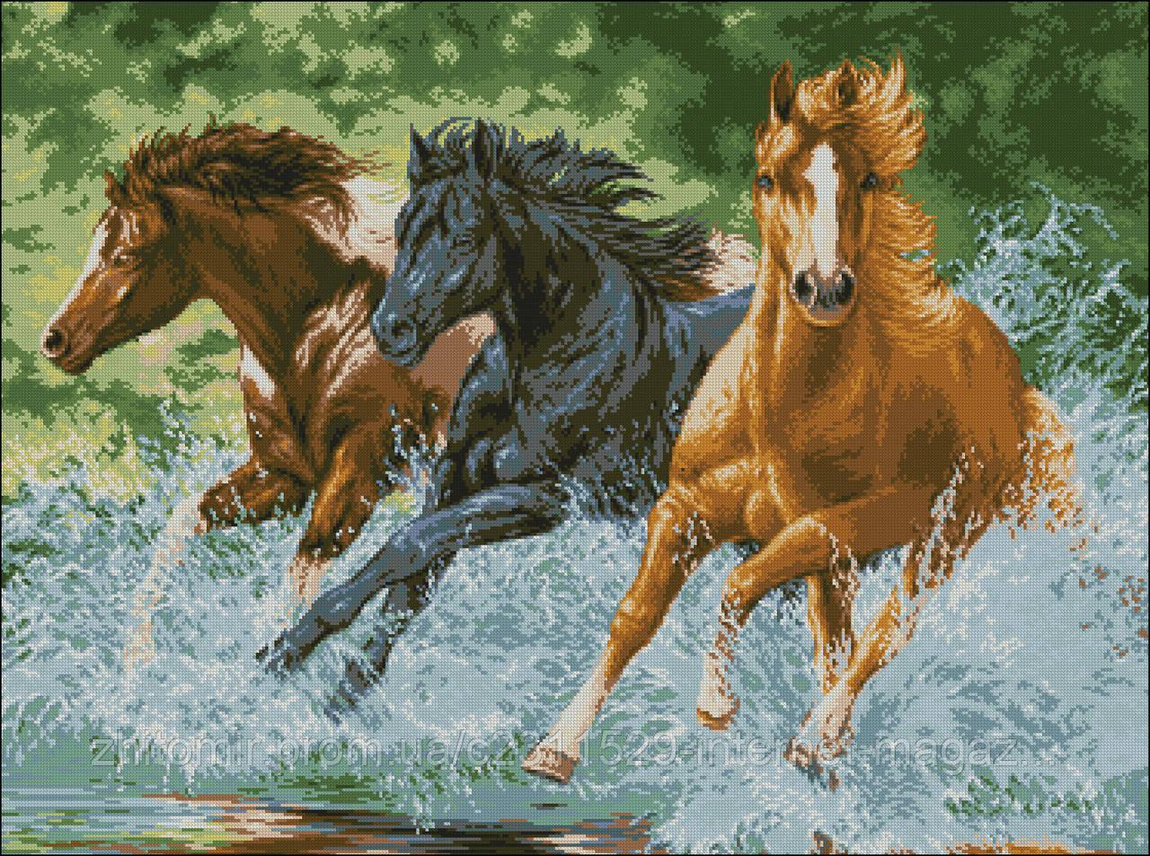 Схемы вышивок бисером лошадей схемы