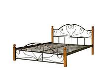 """Металлическая кровать """"Джаконда"""" на деревянных ножках"""